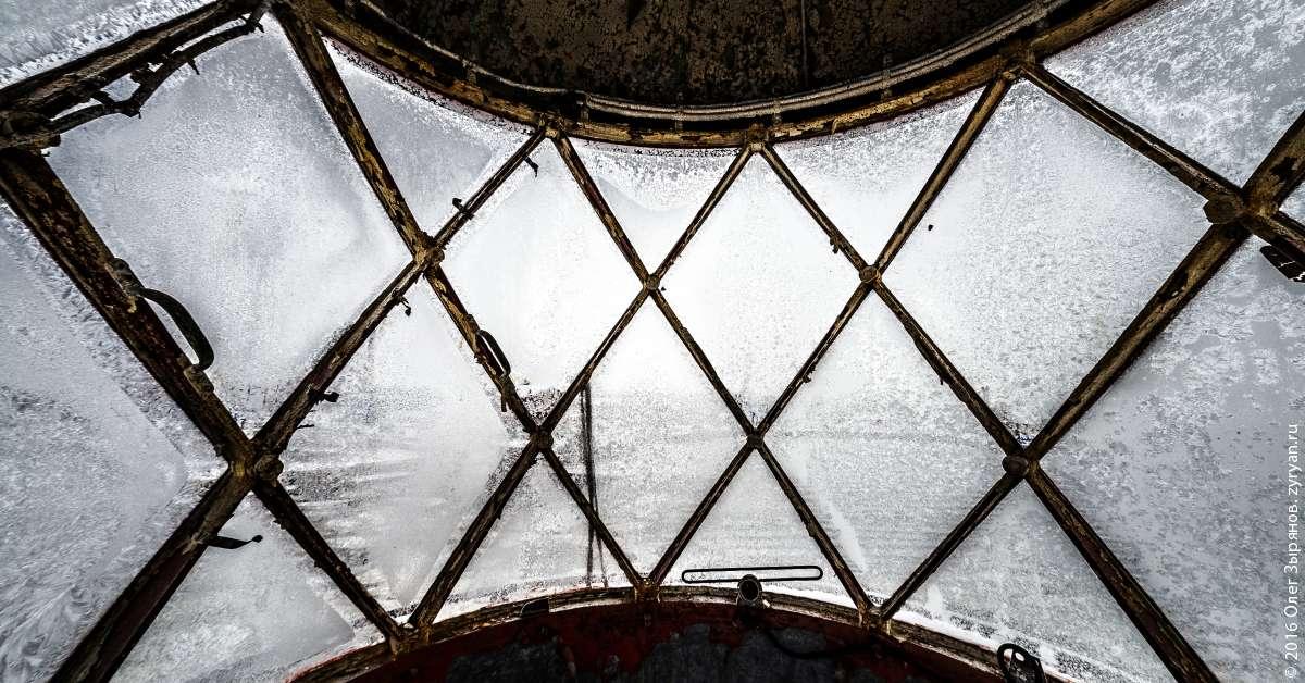Фонарное сооружения маяка Ирбенский
